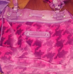 Large juicy couture purse. Rose and brown.